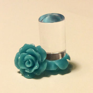 00g, 0g, 2g, 4g, 6g, 8g Cerulean Rose Plugs, Wedding Plugs, Bridal Jewelry, Bridesmaids, Formal Wear, Special Occasion