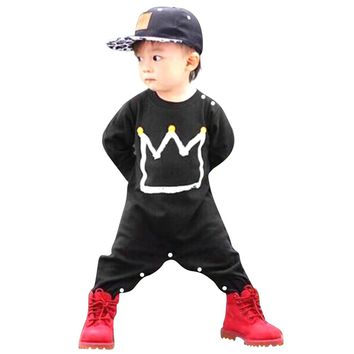 Bbay Clothes Overall Children's Winter Rompers Boy Black Toddler Kids Cotton Jumpsuit Playsuit Clothing Autumn Outfit