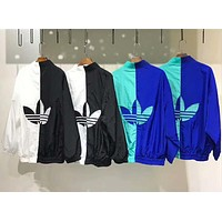 """Adidas"" Women Men Fashion Zip Cardigan Jacket Coat Sweatshirt I-A-XYCL"