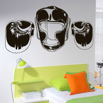 Vinyl Wall Decal Sticker Martial Arts Gear #1478