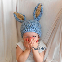 Blue Easter Bunny Hat Baby Boy Easter Clothes Gifts for Boys