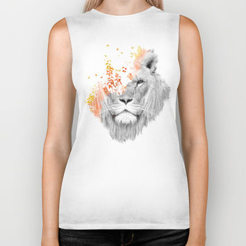 If I roar (The King Lion) Biker Tank by Budi Satria Kwan