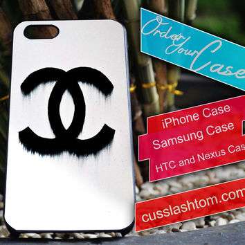 Exclusive Chanel exclusive white iPhone for 4 5 5c 6 Plus Case, Samsung Galaxy for S3 S4 S5 Note 3 4 Case, iPod for 4 5 Case, HtC One M7 M8
