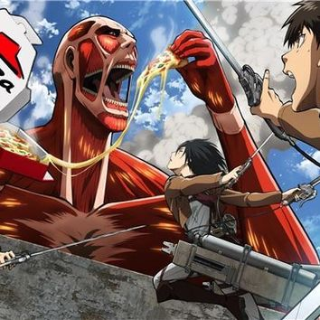 Cool Attack on Titan Custom Canvas Art  Poster  Figure Wallpaper Kid Anime Wall Stickers Mural Bedroom Decoration #120# AT_90_11