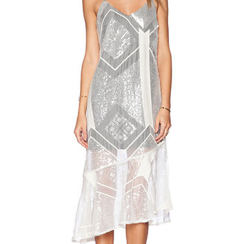 Line & Dot Angelina Dress in White