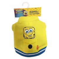 Silver Paw Sponge Bob Fleece Jacket Mock Neck w/Waste Bag Dispenser