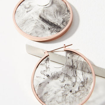 Lunar Eclipse Hoop Earrings