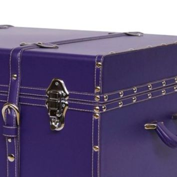 The Sorority College Trunk - Plum Dorm Decor Carry Stuff Pretty For Girls Items Footlocker