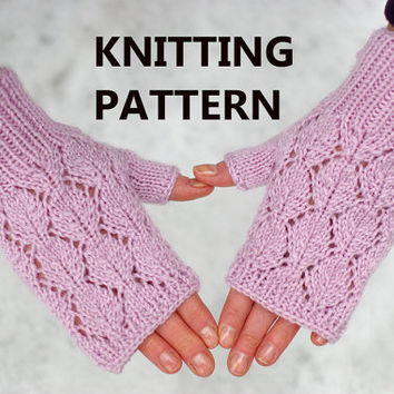 Lace Wristlets Knitting Pattern : Lace fingerless mittens knitting pattern, from ESTtoYou on ...