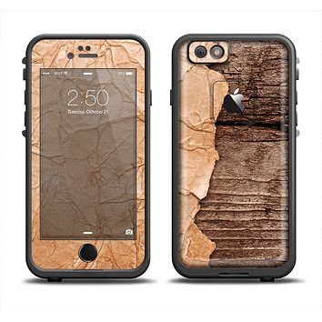 The Vintage Paper-Wrapped Wood Planks Apple iPhone 6/6s Plus LifeProof Fre Case Skin Set