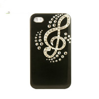 Handmade hard case for HTC One X: Bling music note (customized are welcome)