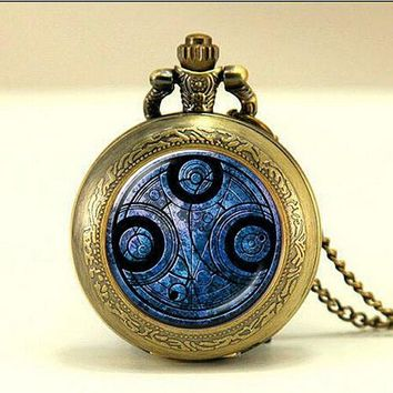 Doctor Who Gallifreyan Watch Necklace