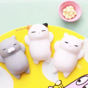 Mochi Cute Animals Squishy Toys Lazy Sleep Cat Phone Straps Accessories Soft Squeeze Kid Toy Fun Joke Gift P15