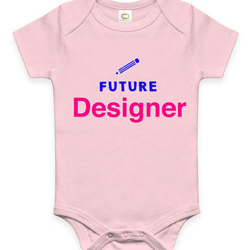Cute Future Designer Baby Clothes Infant Bodysuit Jumper Baby Shower Gift idea Funny New Mom Christmas Pregnant Gift for graphic design