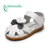 Children shoes cute summer girls baby sandals soft leather girls princess baby Bnowknot sandals Toddlers shoes