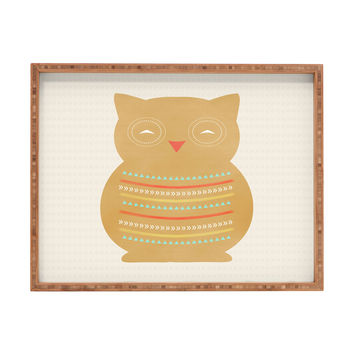 Allyson Johnson Native Owl Rectangular Tray