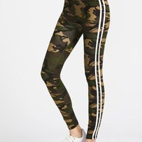 Camo stripe detail legging