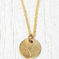 Me To We 'K' Stamped Necklace - Womens Jewelry - Gold - One