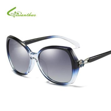 New Fashion Polarized Sunglasses Women Luxury Brand Designer Vintage Crystal Sun Glasses Shades For Women UV400 Gafas De Sol