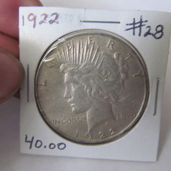 1922 Liberty Peace Dollar 1922 Silver Dollar Antique Coins USA Silver Coins Antique Us Coins Us Currency Rare Coin Collection Coin Collector