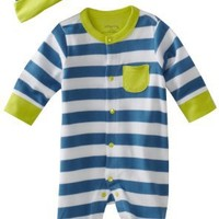 Offspring - Baby  Boys Newborn Footie and Hat $16.50