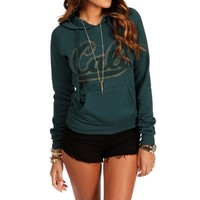 Teal Cali Hooded Sweatshirt