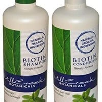 Mill Creek Botanicals Biotin Shampoo and Conditioner Hair Growth Bundle
