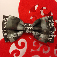 American Horror Story Coven Handmade Double Bow Hair Clip