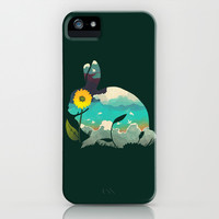 Rabbit Sky - (Forest Green) iPhone & iPod Case by Amelia Senville