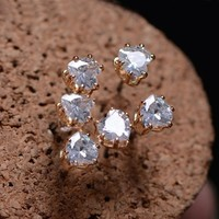 Little Diamond Heart Rhinestone Earrings ( Set Of 2 Pcs)