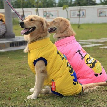 Pet clothes Yellow people Golden retriever samoyed husky big dog clothes autumn winter coat jacket free shipping