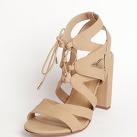 Strappy Hour Heels Natural