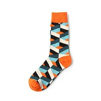 Multi Stripe Mid-Calf Crew Socks