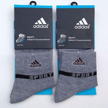 Adidas Men Casual Sport Embroidery Thick Socks Stockings