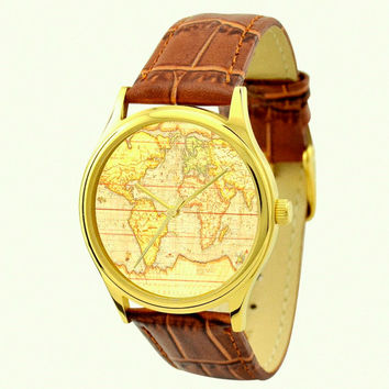 Vintage Map Watch (Eastern Hemisphere) 2