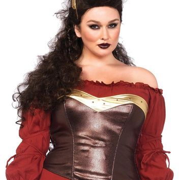 Leg Avenue Female Plus Size Warrior Armor Bustier With Stud Accents 2696X
