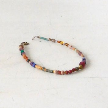 Hippie Anklet Natural Beads Boho Style Jewelry Rustic Beach Surfer Sundance Style Bohemian Anklet