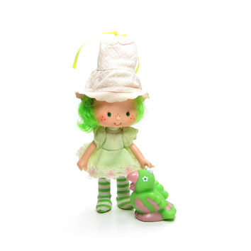 Lime Chiffon Doll with Parfait Parrot Pet Vintage Strawberry Shortcake Friend Toy