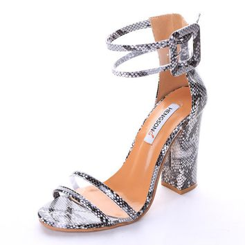 2017 Hot Sale Vogue Women Summer Shoes T-stage Fashion Thick High Dancing High Heel An