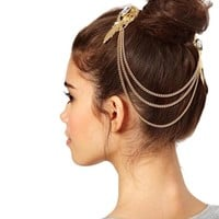 Beautiful Gold Chain Tassel Head Jewelry