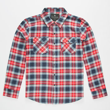 Shouthouse Ryder Boys Flannel Shirt Red  In Sizes