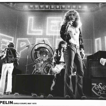 Led Zeppelin London Earl's Court 1975 Poster 24x33