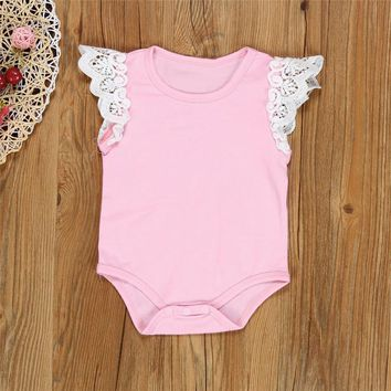 Baby Clothes! New Arrival Newborn Summer Baby Lace Rompers Cotton Infant Clothing,Baby Jumpsuit,Clothes Baby