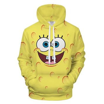 2018 Cute Series Sponge Toy 3D Hoodie Printed Boy Girl Sport Style Hoodie Sweatshirt Couple Cute BOB Men Hoodie Asian Size S-6XL