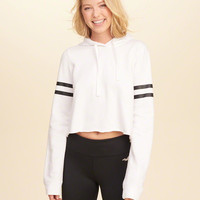Girls Logo Graphic Cropped Hoodie | Girls Tops | HollisterCo.com