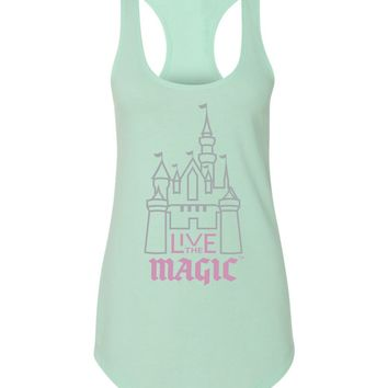 FRESH RELEASE Live The Magic Ladies Metallic Castle Tank