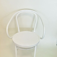Thonet bentwood Armchair {White}