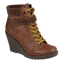 Route 66 Women's Tayside Wedge Casual Boot - Cognac