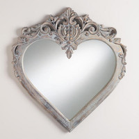 Ruby Carved Heart Mirror