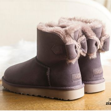 """UGG"" Women male Fashion Wool Snow Boots Purple"